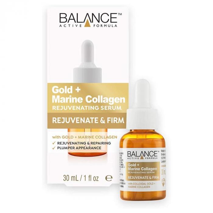 Ser facial pentru intinerire cu Aur si Colagen Marin BALANCE ACTIVE Rejuvenating Serum, 30 ml-big