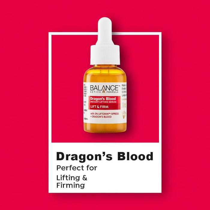 Ser facial anti-rid cu Sange de Dragon BALANCE ACTIVE Instant Lifting Serum, 30 ml-big