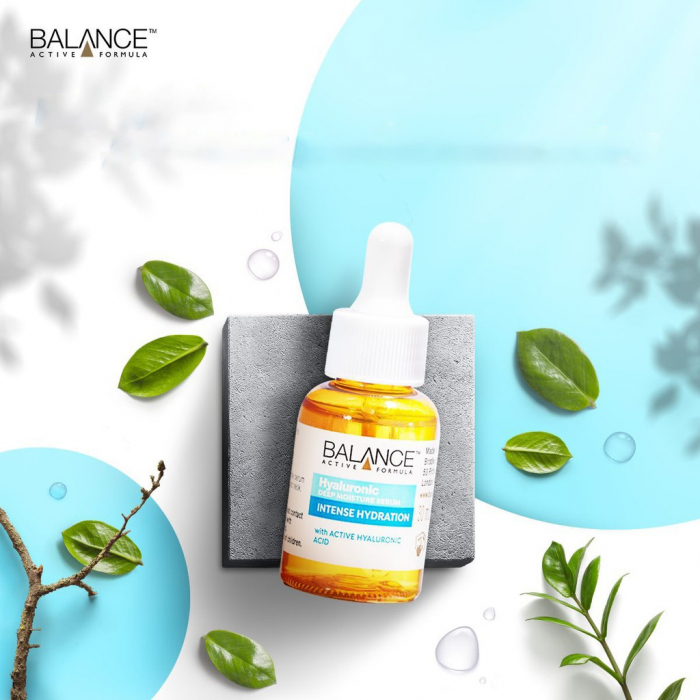 Ser facial intens hidratant cu Acid Hialuronic BALANCE ACTIVE Deep Moisture Serum, 30 ml-big
