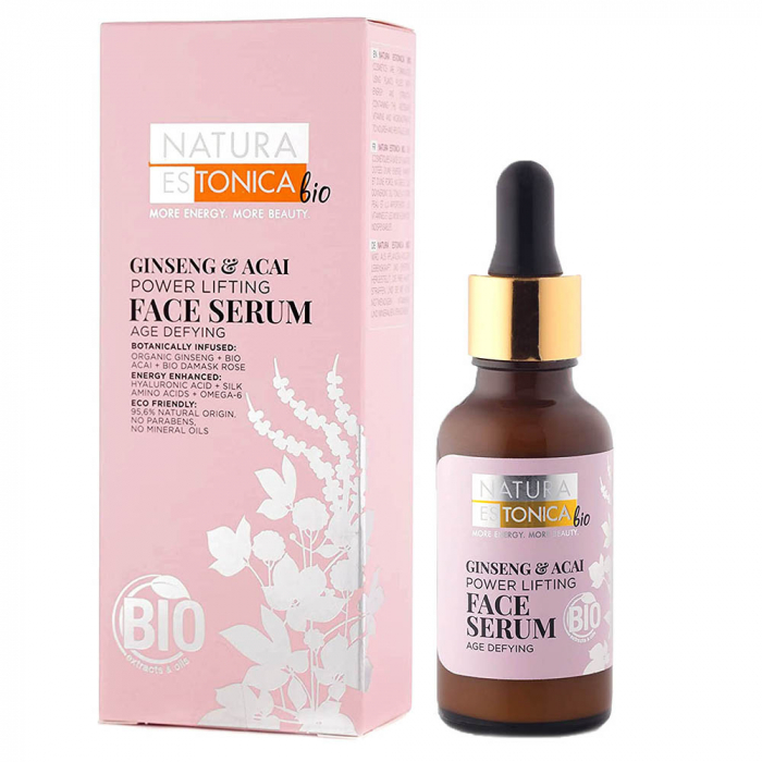 Ser Facial De Fermitate Natura Estonica Ginseng Acai Face Serum, 30 Ml