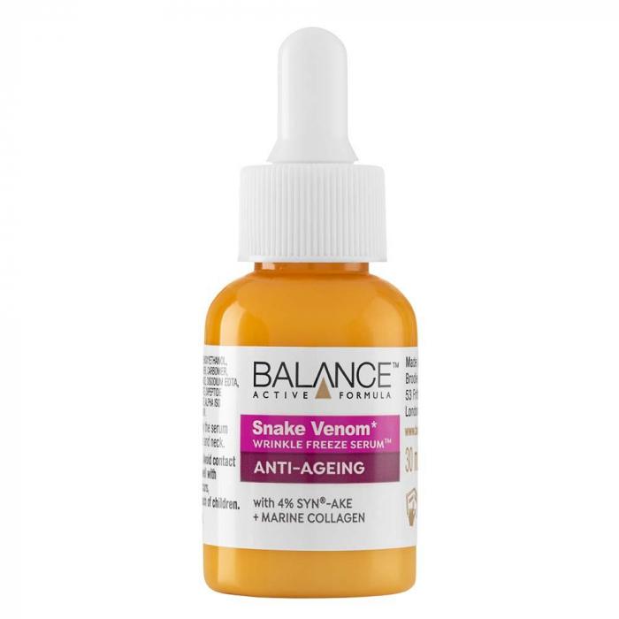 Ser facial anti-rid Venin de Sarpe si Colagen Marin BALANCE ACTIVE Wrinkle-Freeze Serum, 30 ml-big