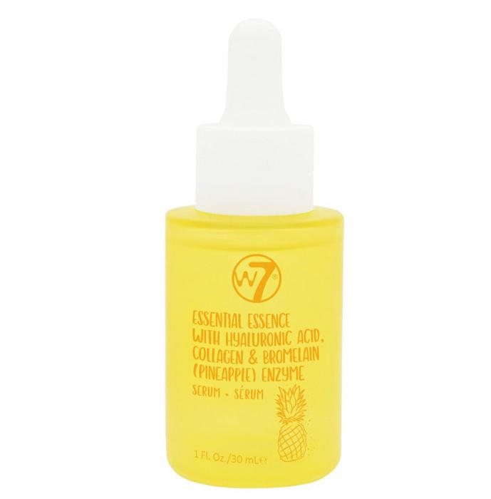 Serum de Fata cu Acid Hialuronic, Colagen si Enzime din Ananas W7 Essential Essence, 30 ml-big