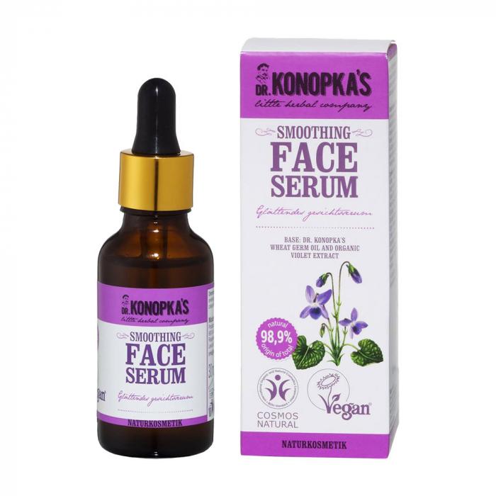 Ser pentru fata DR. KONOPKA'S cu efect de calmare si regenerare a pielii iritate, Ingrediente 98.9% Naturale, 30 ml-big