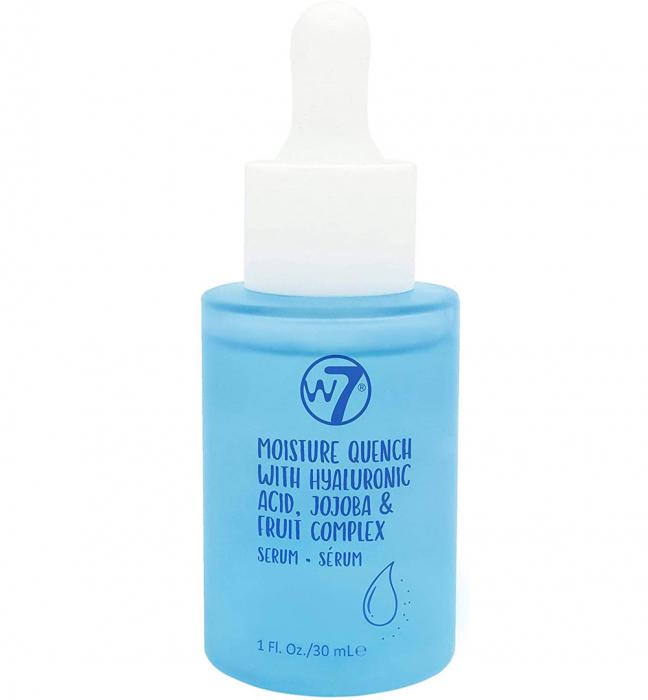 Ser hidratant cu Acid Hialuronic, Jojoba si Complex de Fructe, W7 Moisture Quench Face Serum, 30 ml-big