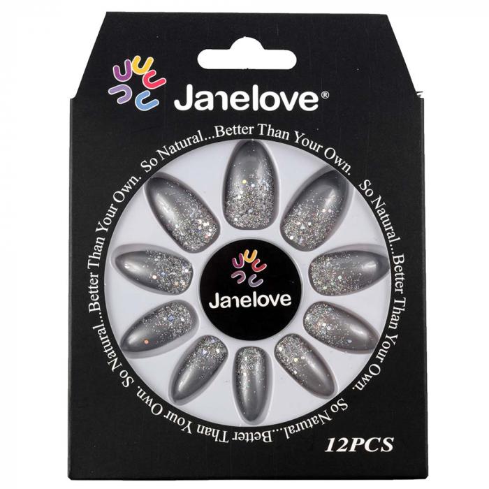 Set 12 Unghii False Janelove, 27 Shades Of Grey-big