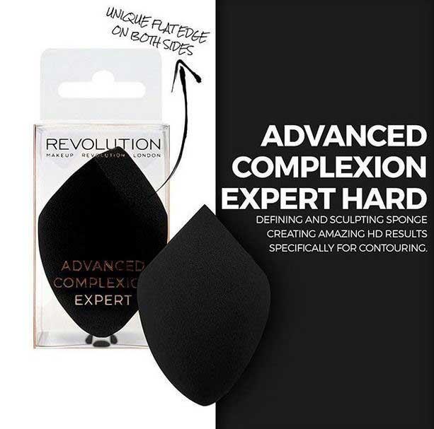 Set 2 Buretei Profesionali pentru machiaj MAKEUP REVOLUTION Complexion Expert Duo Sponge, Hard & Soft-big