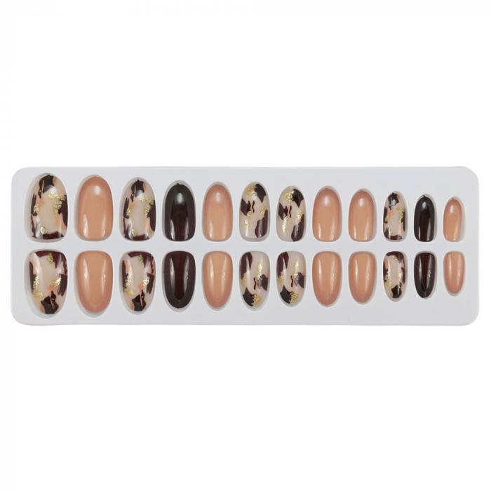 Set 24 Unghii False Tips cu aspect natural, Salon Nails, 07 Animal Print-big