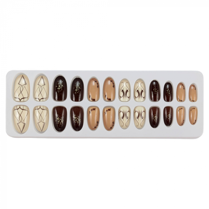 Set 24 Unghii False Tips cu aspect natural, Salon Nails, 08 Mystery-big