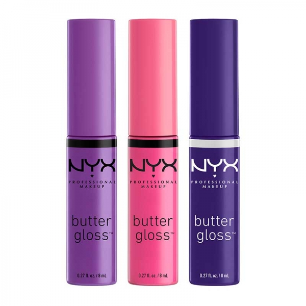 Set De 3 Luciuri De Buze Nyx Professional Makeup Butter Gloss - 08-big