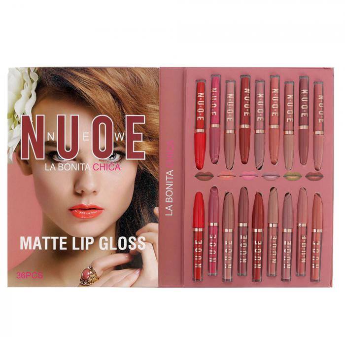Set 36 Rujuri Lichide Mate, Rezistente la Transfer, LA BONITA CHICA Matte Lip Gloss-big