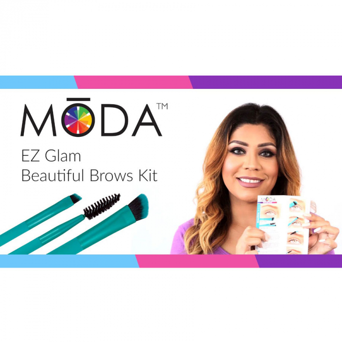 Set pensule profesionale pentru Sprancene Royal & Langnickel MODA EZGlam Duo Beautiful Brows-big