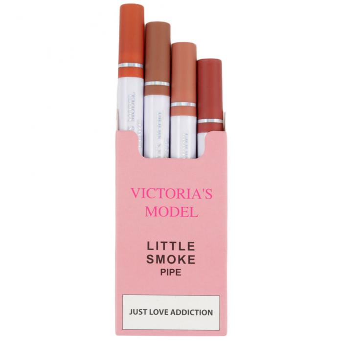 Set 4 Rujuri Lichide Mate, Rezistente la Transfer, Victoria's Model, Little Smoke Pipe, 02-big