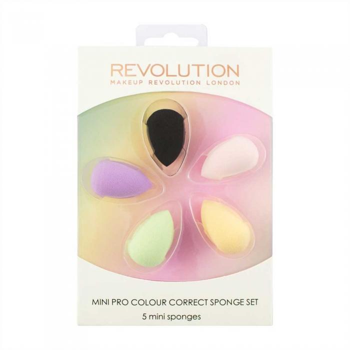 Set 5 Mini Buretei Makeup Revolution Mini Pro Colour Correct Sponge Set-big