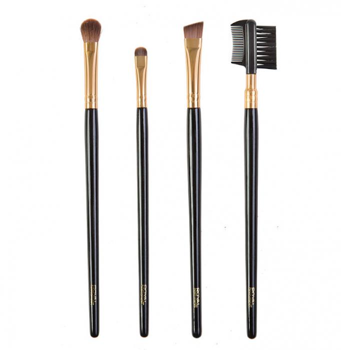Set de 4 Pensule pentru ochi si sprancene ROYAL Eye Perfection Brush-big