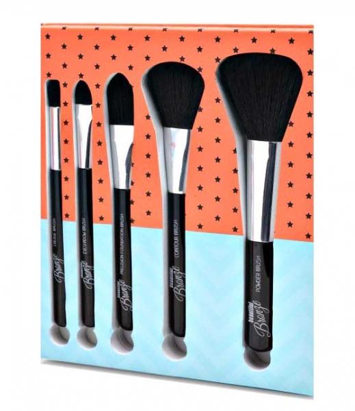 Set 5 Pensule pentru Conturare si Blending SUNKissed Beautiful Bronze Tools Of The Trade Brush Set-big