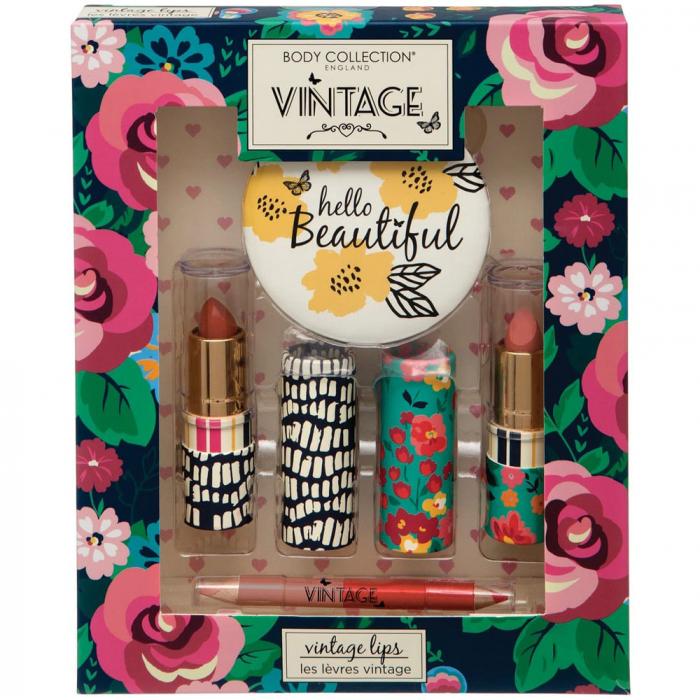 Set Cadou pentru Buze Body Collection Vintage Lips Set-big