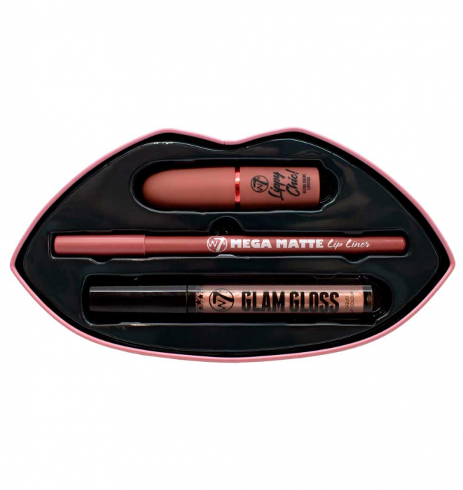 Set Cadou pentru Buze W7 Kiss Kit, Bare it All-big