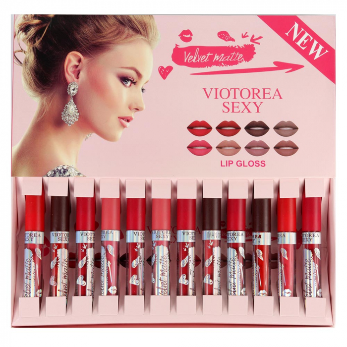 Set Cadou Rujuri Lichide Mate Velvet Matte Lip Set, 12 Culori-big