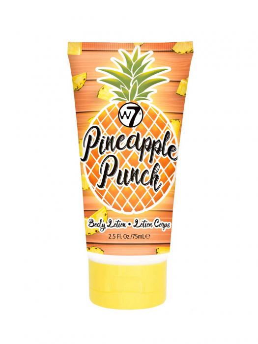 Set cu Lotiune de corp, Spray de corp si Gel de dus cu ANANAS, W7 Travel Set Trio  Pineapple Punch, 75 ml x 90 ml x 75 ml-big