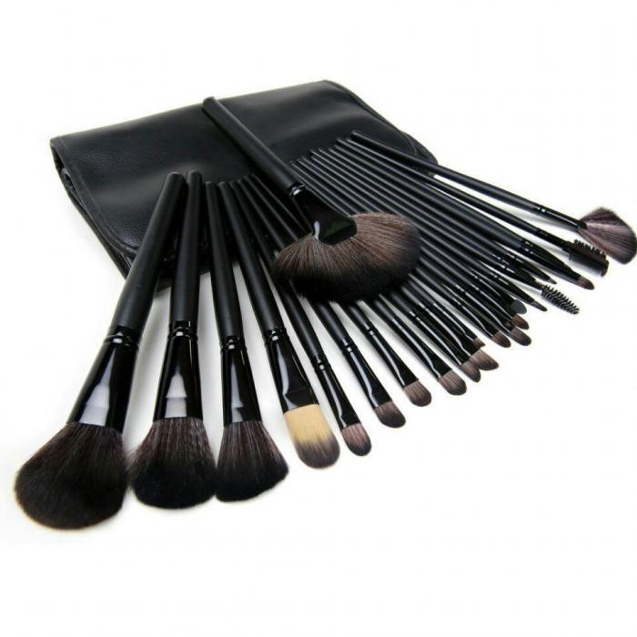 Set De 24 Pensule Profesionale Din Par Natural Top Quality Hair, Black