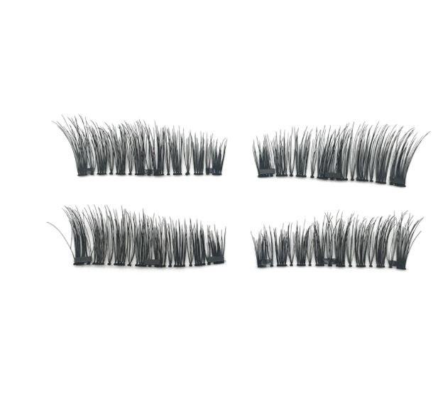 Set Gene False Profesionale cu prindere magnetica in 3 magneti, Reutilizabile, Negru intens, Eyelash 01-big