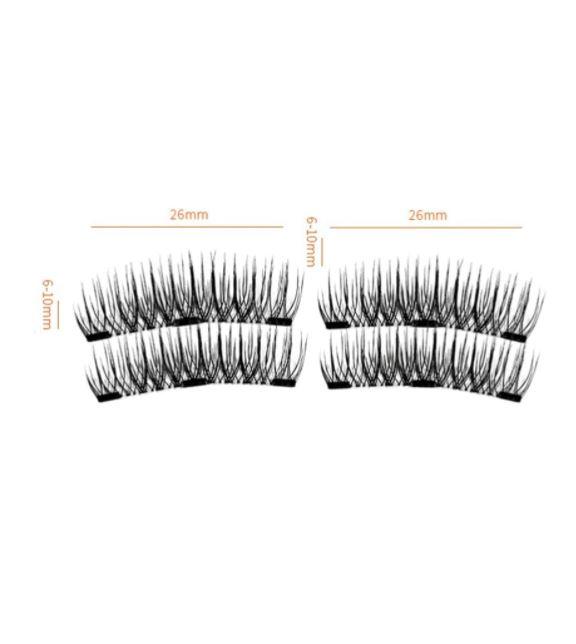 Set Gene False Profesionale cu prindere magnetica in 3 magneti, Reutilizabile, Negru intens, Eyelash 020-big