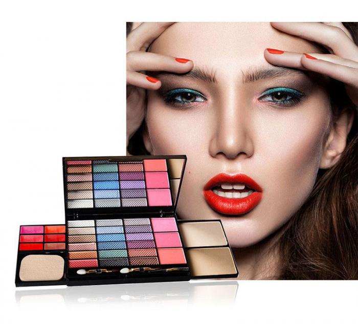 Set machiaj L'Chear Makeup Kit COLORFUL, 32 piese-big