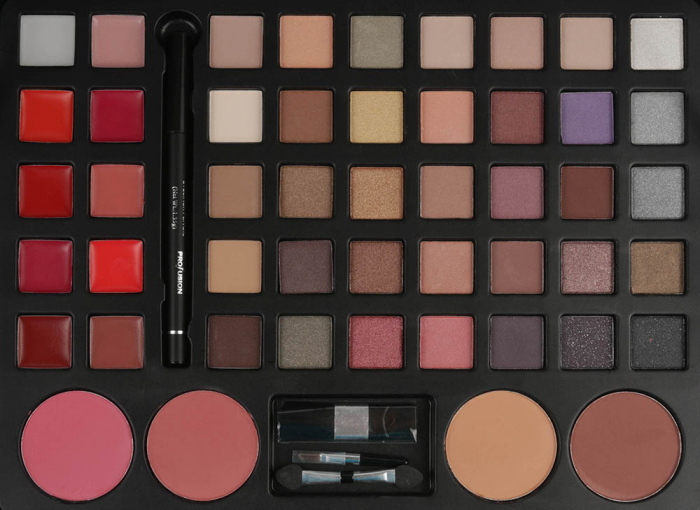 Set profesional pentru machiaj TREASURE BOX, Profusion Cosmetic Collection, 53 piese, Pink-big