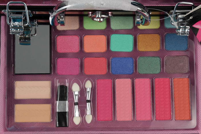 Valiza Profesionala Machiaj, Multifunctionala, Magic Color Makeup Kit, Pink Secret-big
