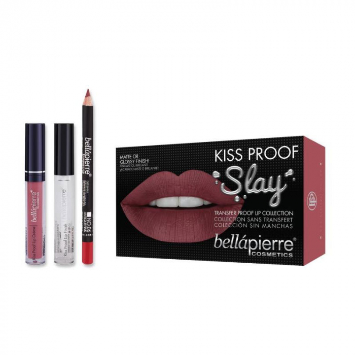 Set Rezistent la Transfer pentru Buze, Bellapierre Kiss Proof Slay, Transfer Lip Collection, Antique Pink-big