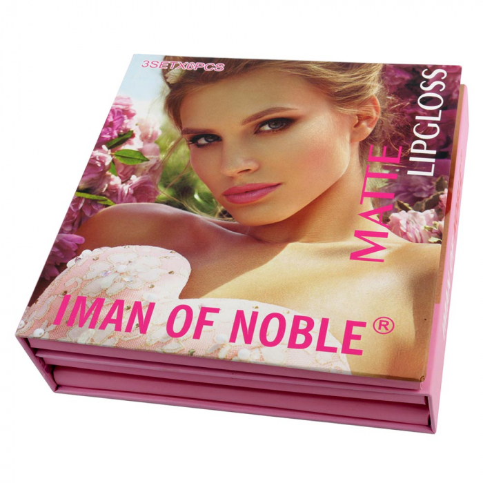 Set Cadou Rujuri Lichide Mate Iman Of Noble Lip Set, 18 Culori-big