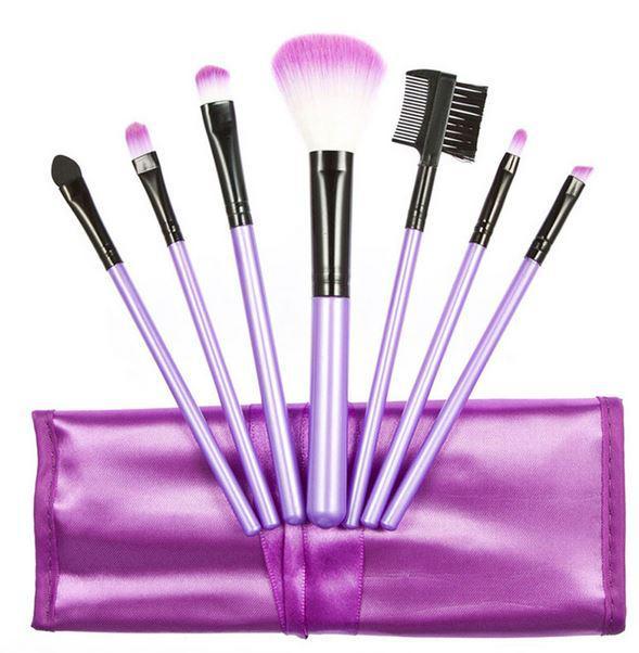 Set 7 Pensule Profesionale Luxury pentru Machiaj - Purple Addicted-big