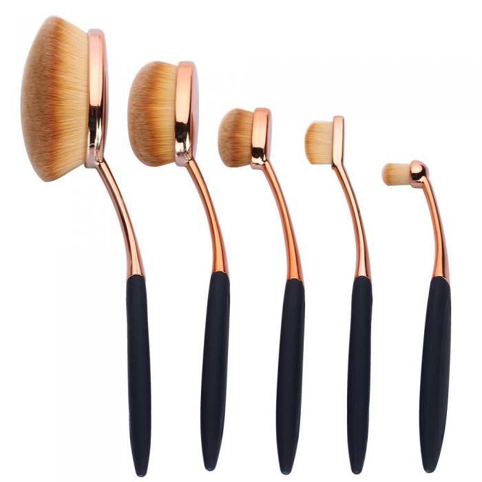 Set 5 Pensule Ovale Profesionale ROYAL Flawless Finish Collection-big