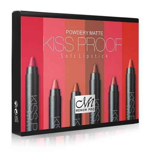 Set Cadou MENOW Pro Kiss Proof Powdery Matte, 6 A Rujuri Mate Rezistente la Transfer-big