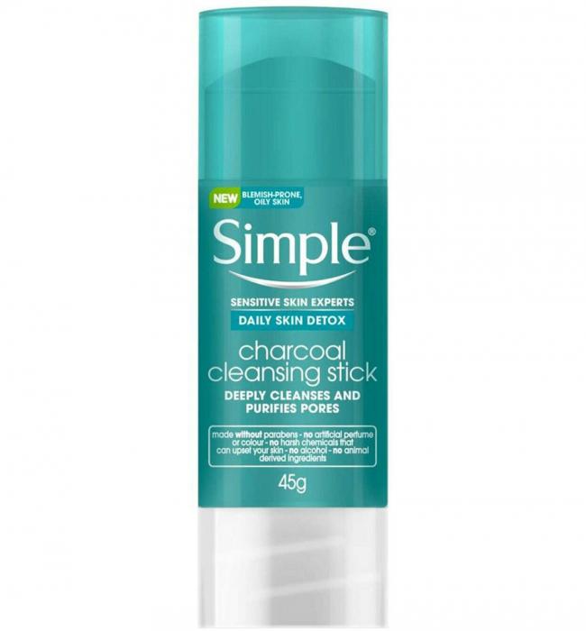 Stick pentru curatarea tenului gras cu Carbune Activ, Zinc si Turmeric Simple Daily Skin DETOX Stick, 45 g-big