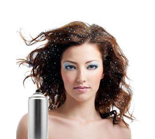 Spray Cu Sclipici Pentru Par Si Corp Party Succes, Argintiu, 125 ml-big