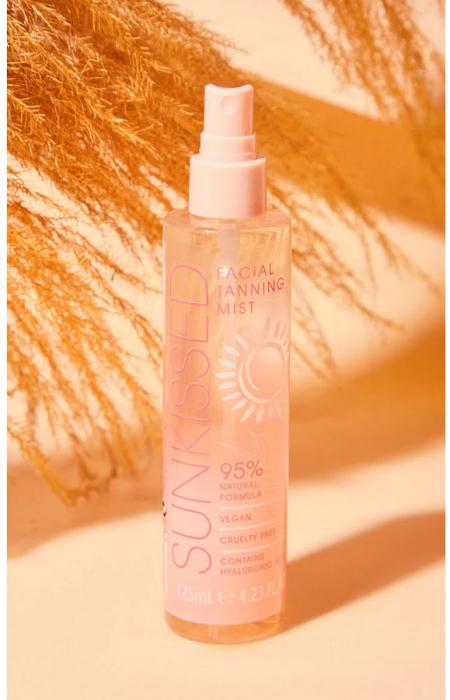 Spray Autobronzant Profesional pentru ten SUNKISSED cu Acid Hialuronic, 95% Ingrediente Naturale, Medium-Dark, 125 ml-big