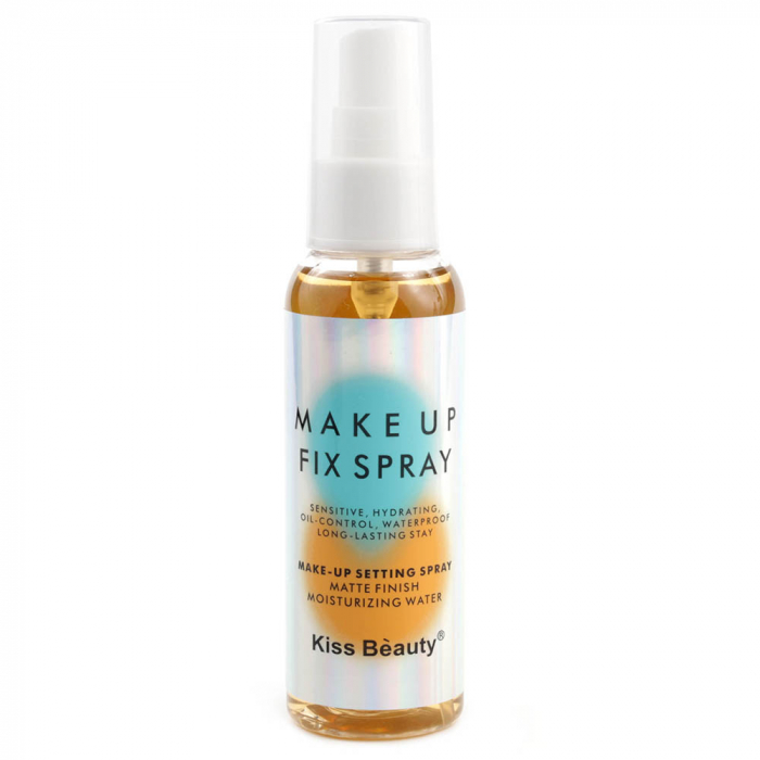 Spray fixare machiaj Kiss Beauty Makeup Fix Spray pentru ten gras, Caise, 100 ml-big