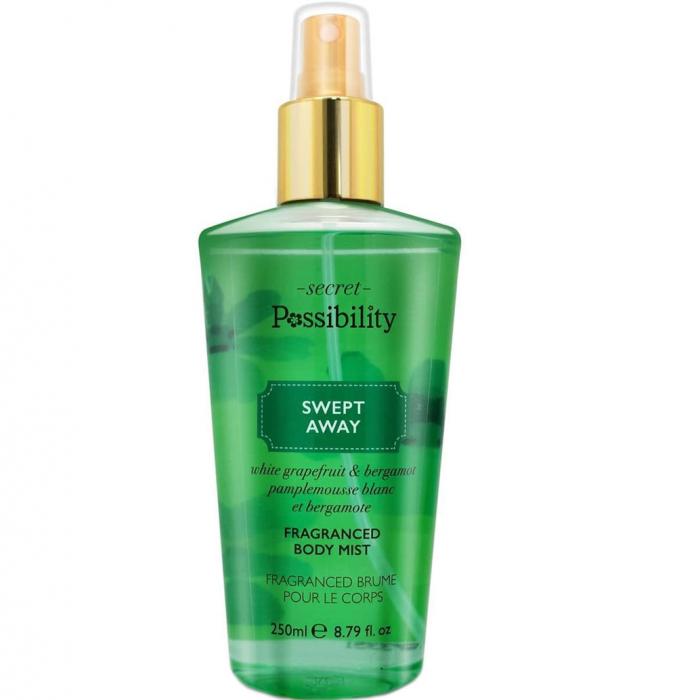 Spray parfumat pentru corp cu grapefruit alb si bergamota Secret Possibility Swept Away, 250 ml-big