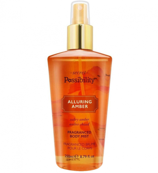 Spray parfumat pentru corp cu chihlimbar si crema de vanilie Secret Possibility Alluring Amber, 250 ml-big