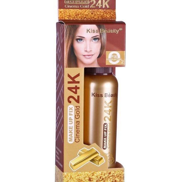 Spray Pentru Fixarea Machiajului cu Particule de Aur 24K Kiss Beauty Cinema Gold, 80 ml-big