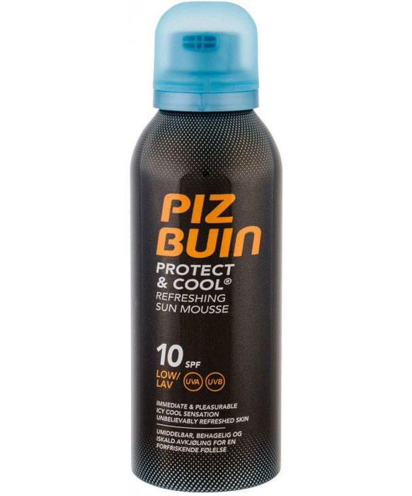 Spuma racoritoare cu protectie solara UVA/UVB, PIZ BUIN Protect & Cool, SPF10, 150 ml-big