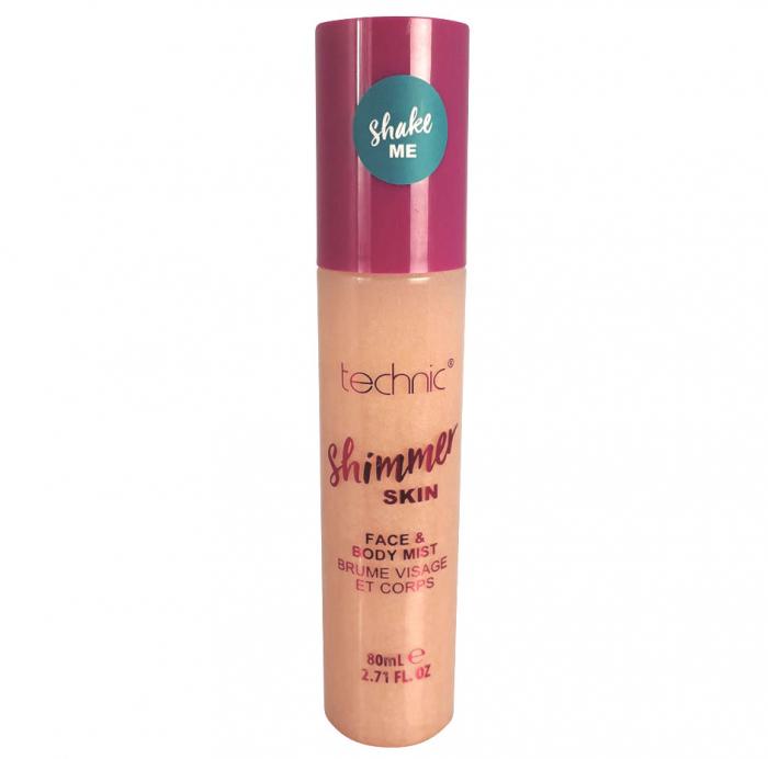 Spray Stralucitor Pentru Fata Si Corp Technic Shimmer Skin Face & Body Mist, Sunrise, 80 ml-big