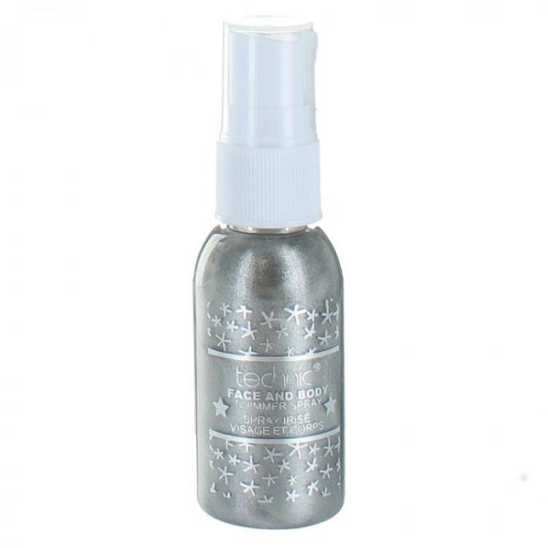 Spray Stralucitor Pentru Fata Si Corp Technic Face And Body Shimmer - Grey, 30 ml-big