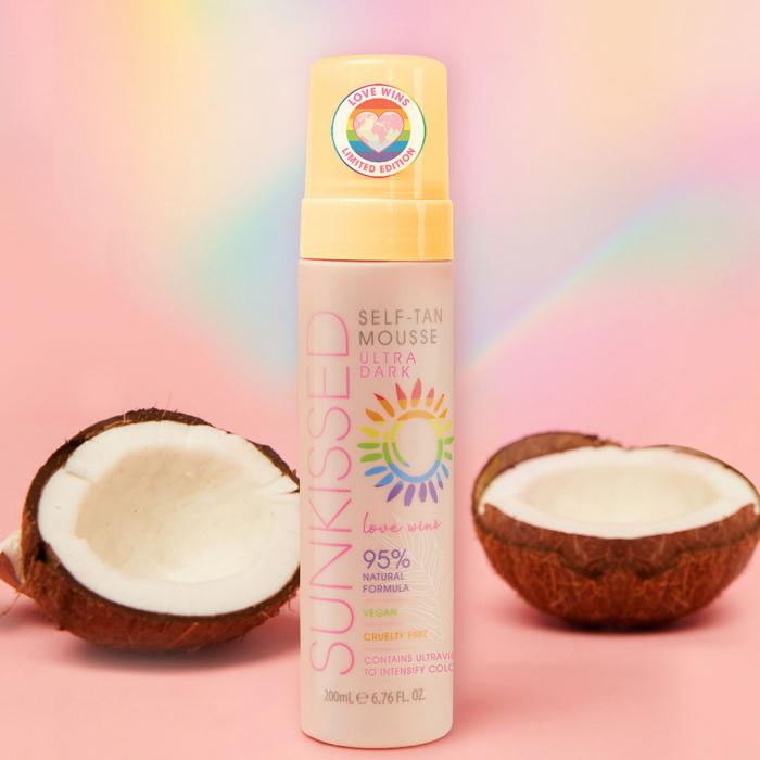 Spuma Autobronzanta Profesionala SUNKISSED Self-tan, Love Wins, Ultra-Dark, 95% Ingrediente Naturale, 200 ml-big