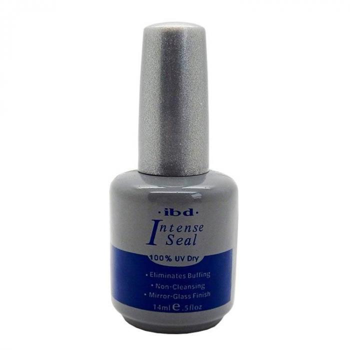 Top coat luciu si fixare Ibd Intense Seal 100% UV Dry pentru oja semipermanenta sau gel UV, 14 ml-big