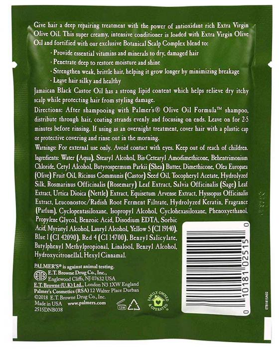 Tratament intensiv par fragil, cret sau vopsit PALMER'S Olive Oil Formula, Vitamina E si Ulei de masline extravirgin, 60 g-big