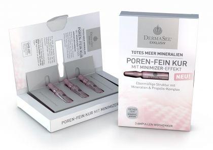 Tratament pentru Pori Curati DermaSel Exklusiv cu Complex de Minerale si Extract de Propolis - 3 Fiole X 1 ml-big