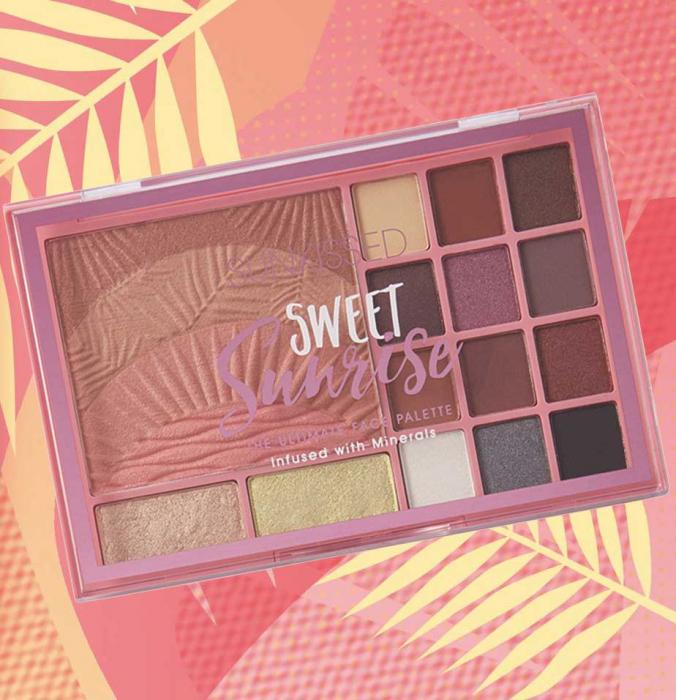 Paleta pentru machiaj SUNKISSED Sweet Sunrise The Ultimate Face Palette-big