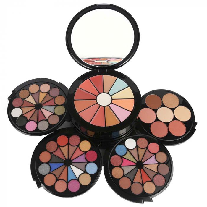 Trusa Profesionala Multifunctionala Pentru Machiaj Miss Rose Fashion Make-up Kit, 91 Piese